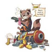 Don't give Raccoon the gun. by aun61