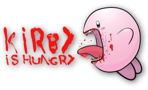 Kirby is hungry Wallpaper by CharlesMuller
