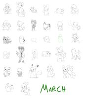 March Daily Doodles by Peeka13