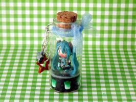 Hatsune Miku Bottle Charm by NattoProductions