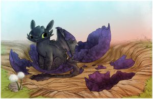 Toothless Hatchling by Spoonful0fcats