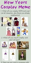 New Years Cosplay Meme 2011 by CandiedChris