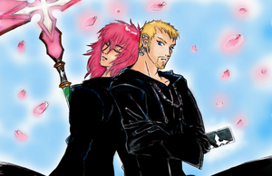 Luxord X Marluxia::Spring Time by Zedela
