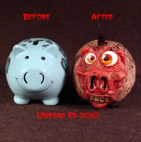 Rot Insane Piggy Bank compare by Undead-Art