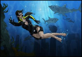 lara croft wetsuit colo by illyne