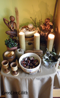 Home altar (early autumn) by LoveLiveLilith