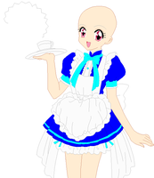 Cafe Mew Waitress base edit by ChelseaCatGirl
