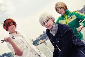 P4: Fool, Magician, Chariot by cafe-lalonde