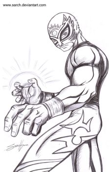 Luchador Pencils by sarch