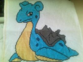 Lapras Cross-stitch by Bydrassil