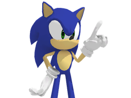 Sonic pose by meowbobe