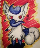 Female Meowstic by leafyloo