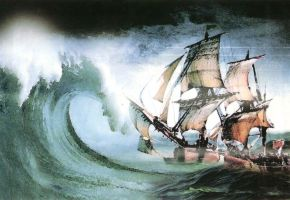Ship in Storm by qazinahin