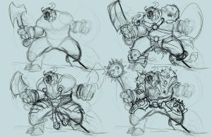 Four rough Demons by ZipDraw