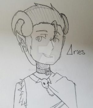 Aries | Sketch Commission - [Ameah1234] by SorZero3