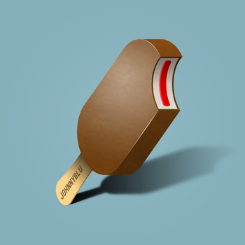 Chocolate Lolly Vector by JohnnyBlu