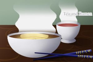 RAmen and Tea by omtay