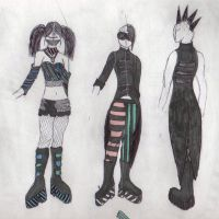 cyber goth punk thing by multicoloured-smee