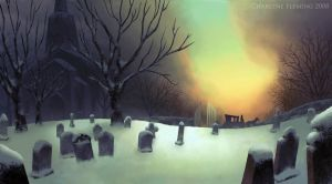 The Churchyard At Dawn by autumni