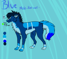 Blue ref OC by captainhomo