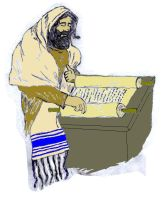 Messiah reads from the Torah by Yeshua