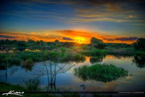 Peaceful-Waters-Sanctuary-Wellington-Florida-Sunse by CaptainKimo
