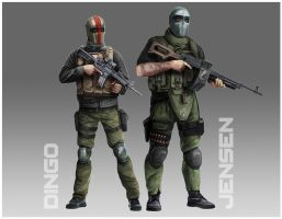 Commission - Army of Two by anderpeich