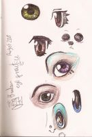[Sketch Dump (?)] Random Eye Practice by AtomicReih