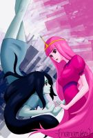 Marceline and Princess Bubblegum - Adventure Time by Nanaruko