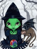 Wicked Witch and Her Monkey by jasminetoad