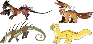Pixel monster adopts! (points+paypal) by Supairo