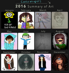 |2016 Summary of Art|Cookie's progress by Cookiewhisper5