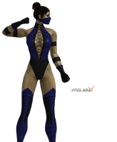 Kitana umk3 fighting pose by MKiss333