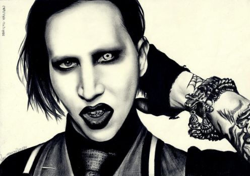 Marilyn Manson by crayon2papier