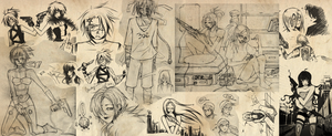 Sketch Dump - april by chiili