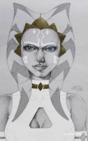 Women of StarWars: Ahsoka white by LeneMa7991