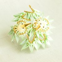 Take ni suzume - Sparrow in bamboo kanzashi by elblack