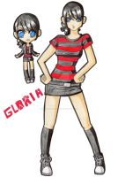 big and chibi Gloria by PrincessBlackRabbit