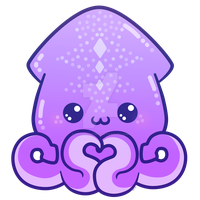 Squidly Love_ Charm by pinkplaidrobot