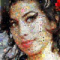 Amy Winehouse Mosaic 2 by Cornejo-Sanchez