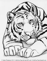 Panthera tigris by LittleGrayTiger