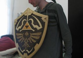 Wooden Hylian Shield by clefrayearth