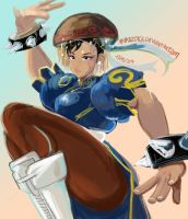Street fighter 5 Chun li speed drawing 1 hour by MaKuZoKu