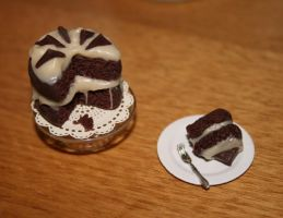 Miniature Chocolate Cake by bettenoir87