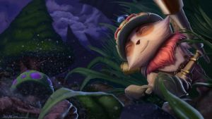 League of Legends: Teemo Splashscreen by JaikArt