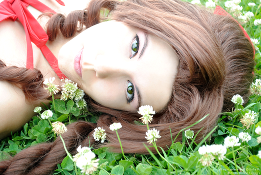Aerith - Close up by sophie-art