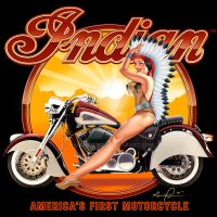 Indian Motorcycle pinup by hardnox757