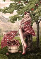 Picking Apples by AliaChek