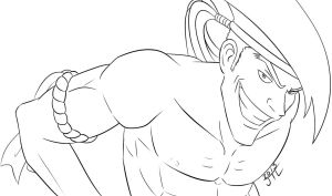 Lets Play - StreetFighter4 - Adon Lineart by EnterMEUN