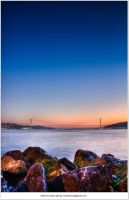 Rocks on bosphorus by Metkan